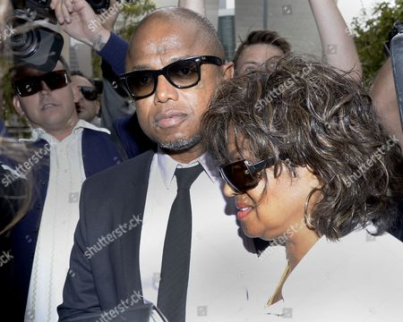 Randy Jackson (l) and Rebbie Jackson(r) Arrive at the Los Angeles Superior Court to Hear Opening Statements in the Civil Trial Against Aeg in Los Angeles Superior Court in Los Angeles California Usa 29 April 2013 the Jackson Family is Suing Two Aeg Executives For 40 Billion Dollars United States Los Angeles