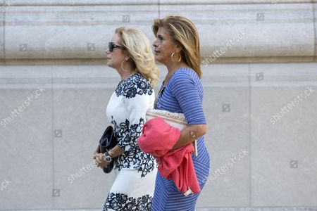 Stock Picture of Us Talk Show Hosts Kathy Lee Gifford (l) and Hoda Kotb Arrive For the Funeral of Us Comedienne Joan Rivers at Temple Emanu-el in New York New York Usa 07 September 2014 Rivers Died at the Age of 81 on 04 September United States New York