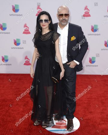 Stock Image of Andres Levin (r) and Cucu Diamantes (l) Arrive at the 16th Annual Latin Grammy Awards at the Mgm Grand in Las Vegas Nevada Usa 19 November 2015 Latin Grammy Awards Reconginze Artistic And/or Technical Achievement not Sales Figures Or Chart Postitions and the Winners Are Determined by the Votes of Their Peers-the Qualified Voting Members of the Academy United States Las Vegas