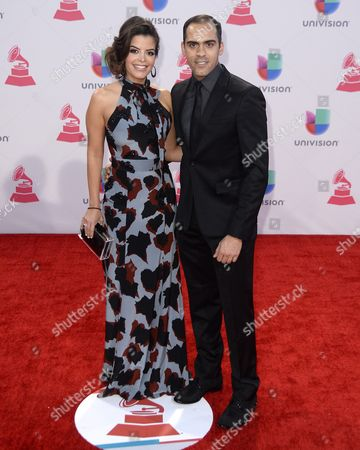 Pastor Maldonado (r) and Guest Arrive at the 16th Annual Latin Grammy Awards at the Mgm Grand in Las Vegas Nevada Usa 19 November 2015 Latin Grammy Awards Reconginze Artistic And/or Technical Achievement not Sales Figures Or Chart Postitions and the Winners Are Determined by the Votes of Their Peers-the Qualified Voting Members of the Academy United States Las Vegas