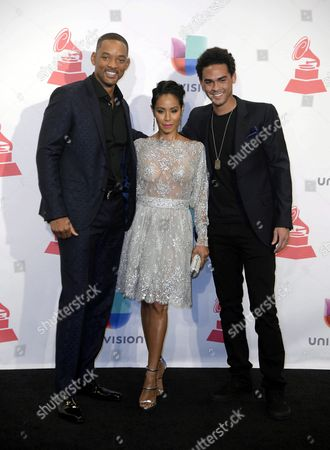 Stock Picture of (l-r) Will Smith Jada Pinkett Smith and Willard Christopher Smith Iii in the Press Room at the 16th Annual Latin Grammy Awards at the Mgm Grand in Las Vegas Nevada Usa 19 November 2015 the Latin Grammy Awards Recognize Artistic And/or Technical Achievement not Sales Figures Or Chart Positions and the Winners Are Determined by the Votes of Their Peers-the Qualified Voting Members of the Academy United States Las Vegas