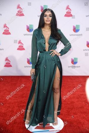 Stock Picture of Jamillette Gaxiola Arrives at the 16th Annual Latin Grammy Awards at the Mgm Grand in Las Vegas Nevada Usa 19 November 2015 Latin Grammy Awards Recognize Artistic And/or Technical Achievement not Sales Figures Or Chart Positions and the Winners Are Determined by the Votes of Their Peers-the Qualified Voting Members of the Academy United States Las Vegas