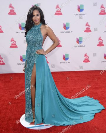 Stock Picture of Thatiana Diaz Arrives at the 16th Annual Latin Grammy Awards at the Mgm Grand in Las Vegas Nevada Usa 19 November 2015 Latin Grammy Awards Recognize Artistic And/or Technical Achievement not Sales Figures Or Chart Positions and the Winners Are Determined by the Votes of Their Peers-the Qualified Voting Members of the Academy United States Las Vegas