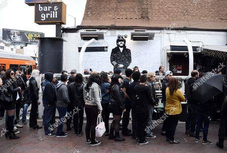 Fans of British Metal Band Motorhead Gather to Mourn Lead Singer Lemmy at the Rainbow Bar and Grill in Hollywood California Usa 09 January 2016 the Rainbow Purportedly Lemmy's Favorite Bar Allowed Fans to Come in and Celebrate the Rocker's Life Ian Fraser Kilmister Known As Lemmy Died on 28 December 2015 Aged 70 United States Hollywood
