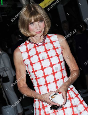 Anna Wintour British Editor-in-chief of Us Vogue Magazine Arrives at the Museum of Modern Art's (moma) Party in the Garden in New York New York Usa 21 May 2013 the Museum of Modern Art's Party in the Garden is a Benefit Event in Honor of Mayor Michael R Bloomberg and the City of New York and Us Artists Ellsworth Kelly and Cindy Sherman in Recognition of Their Support of Moma United States New York