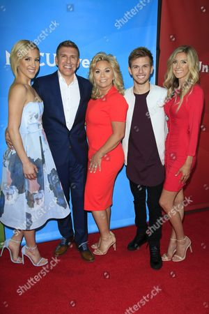 Us Actors Savannah Chrisley Todd Chrisley Julie Chrisley Chase Chrisley and Lindsie Chrislie (l_r) of the Show 'Chrisley Knows Best' Arrive For the 2016 Nbcuniversal Summer Press Day at the Four Seasons Westlake in Westlake Village California Usa 01 April 2016 the Summer Press Day Event is Held by Nbcuniversal and is where the Talent of the Current Shows Are Introduced United States Westlake Village
