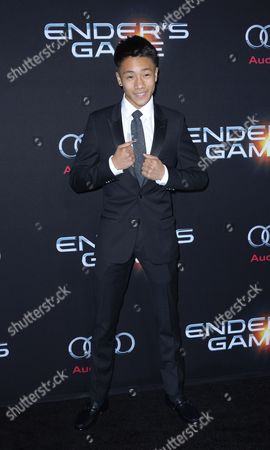 Us Teen Actor and Cast Member Brandon Soo Hoo Arrives For the Premiere of the Movie 'Ender's Game' at the Tcl Chinese Theatre in Hollywood California Usa 28 October 2013 United States Hollywood