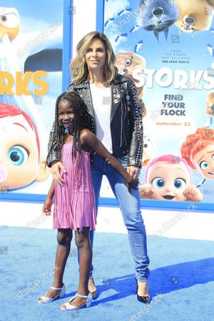 Us Personal Trainer Businesswoman Author and Television Personality Jillian Michaels Arrives with Daughter Lukensia Michaels Rhoades For the World Premiere of Storks at the Regency Village Theater in Westwood Los Angeles California Usa 17 September 2016 the Movie Opens in the Us on 23 September 2016 United States Los Angeles