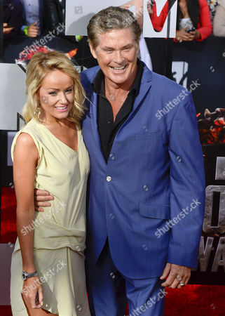 Us Actor David Hasselhoff (r) and Wife Us Actress Pamela Bach (l) Arrive For the 2014 Mtv Movie Awards at the Nokia Theatre in Los Angeles California Usa 13 April 2014 the Movies Are Nominated by Producers and Executives From Mtv and the Winners Are Chosen On-line by the General Public United States Los Angeles