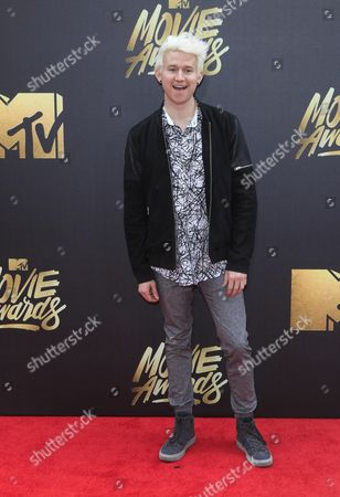 Stock Image of Ricky Dillon Arrives For the 2016 Mtv Movie Awards at the Warner Brothers Studios in Burbank California Usa 09 April 2016 the Movies Are Nominated by Producers and Executives From Mtv and the Winners Are Chosen Online by the General Public United States Burbank
