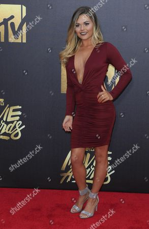 Stock Photo of Jenna Thomason Arrives For the 2016 Mtv Movie Awards at the Warner Brothers Studios in Burbank California Usa 09 April 2016 the Movies Are Nominated by Producers and Executives From Mtv and the Winners Are Chosen Online by the General Public United States Burbank