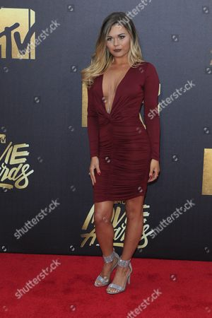 Stock Picture of Jenna Thomason Arrives For the 2016 Mtv Movie Awards at the Warner Brothers Studios in Burbank California Usa 09 April 2016 the Movies Are Nominated by Producers and Executives From Mtv and the Winners Are Chosen Online by the General Public United States Burbank