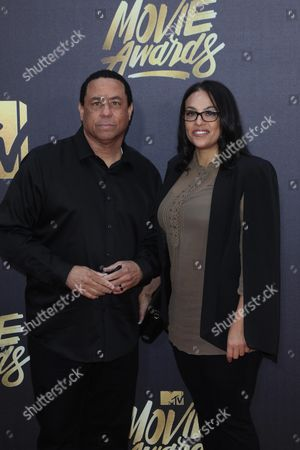N W A's Dj Yella (l) and Tomica Woods-wright (r) Arrive For the 2016 Mtv Movie Awards at the Warner Brothers Studios in Burbank California Usa 09 April 2016 the Movies Are Nominated by Producers and Executives From Mtv and the Winners Are Chosen Online by the General Public United States Burbank