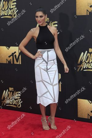 Nargis Fakhri Arrives For the 2016 Mtv Movie Awards at the Warner Brothers Studios in Burbank California Usa 09 April 2016 the Movies Are Nominated by Producers and Executives From Mtv and the Winners Are Chosen Online by the General Public United States Burbank