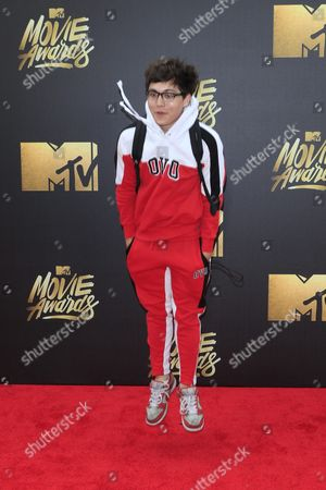 Brandon Wardell Arrives For the 2016 Mtv Movie Awards at the Warner Brothers Studios in Burbank California Usa 09 April 2016 the Movies Are Nominated by Producers and Executives From Mtv and the Winners Are Chosen Online by the General Public United States Burbank