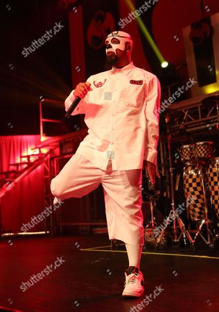 Us Rapper Aaron Dontez Yates Aka Tech N9ne Performs at the Murat Egyptian Room in Indianapolis Indiana Usa 27 April 2016 United States Indianapolis
