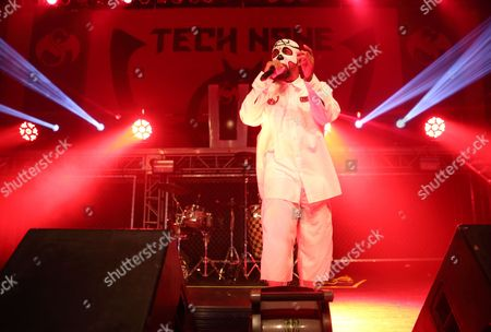 Stock Image of Us Rapper Aaron Dontez Yates Aka Tech N9ne Performs at the Murat Egyptian Room in Indianapolis Indiana Usa 27 April 2016 United States Indianapolis