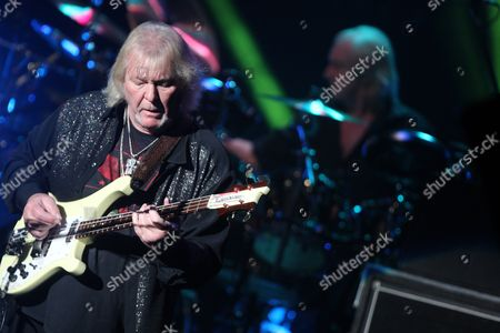 Chris Squire of the English Rock Band Yes Performs at the Murat Theater in Indianapolis Indiana Usa 12 August 2013 United States Indianapolis