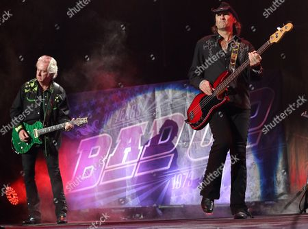 Howard Leese (l) and Todd Ronning (r) of Thebritish Rock Band Bad Company Performs at the Klipsch Music Center in Indianapolis Indiana 20 July 2013 United States Indianapolis