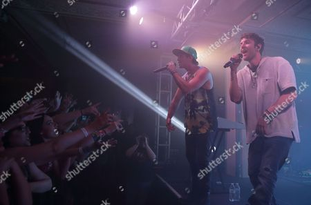 Wesley Stromberg (l) and Drew Chadwick (r) of the Us Pop Reggae Band Emblem3 Perform at the Deluxe at the Murat Center in Indianapolis Indiana Usa 21 May 2016 (issued 22 May) United States Indianapolis