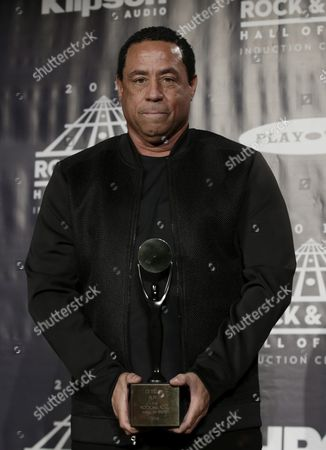 Us Record Producer Dj Yella Poses For Photographers at the 31st Annual Rock and Roll Hall of Fame Induction Ceremony at the Barclays Center in Brooklyn New York Usa 08 April 2016 United States New York