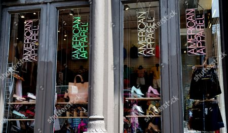 An American Apparel Store in New York New York Usa 23 June 2014 Dov Charney the Chief Executive of American Apparel Inc is in a Dispute with the Board of Directors of the Company Which Moved to Take Away His Title and Fire Him on 18 June Afer the Company's Annual Meeting Charney is Reportedly Disputing His Termination Which 'Grew out of an Ongoing Invesitgation Into Alleged Misconduct' Acoridng to Statement Released by American Apparel United States New York