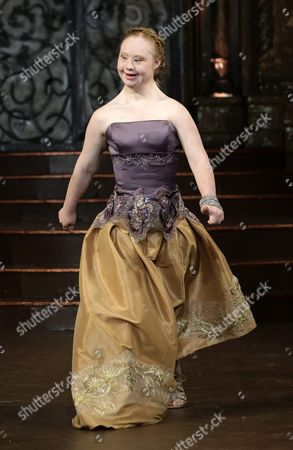 Australian Model Madeline Stuart who Has Down's Syndrome Presents a Creation From the Fall 2016 Collection by Ftl Moda During the New York Fall Fashion Week in New York New York Usa 15 February 2016 the Fall 2016 Collections Are Presented From 11 to 18 February United States New York
