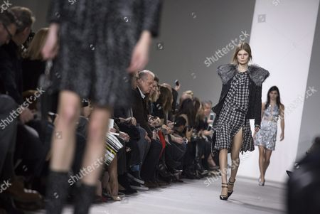 Estonian Model Alexandra Elizabeth Ljadov Presents a Creation by Us Designer Michael Kors at the New York Fall Fashion Week in New York New York Usa 17 February 2016 the Fall 2016 Collections Are Presented From 11 to 18 February United States New York