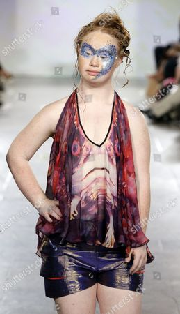 Australian Model Madeline Stuart who Has Down's Syndrome Poses on the Runway During the Spring 2016 Collection by Ftl Moda Show During New York Fashion Week in New York New York Usa 13 September 2015 the Spring 2016 Collections Are Presented From 10 to 17 September United States New York