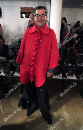 American Journalist and a Former Columnist For the Village Voice Michael Musto Poses For a Picture Before the Start of the Presentation of the Collection by the Blonds at New York Fashion Week in New York New York Usa 11 September 2016 the Spring-summer 2017 Collections Are Presented From 07 to 15 September United States New York