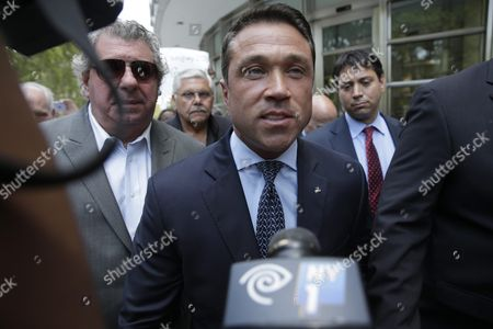 Former Us Congressman Michael Grimm Leaves United States Federal Court in Brooklyn New York Usa 17 July 2015 Grimm is Accused of a Range of Offenses Including Mail Wire and Health Fraud Filing False Tax Returns and Perjury United States New York