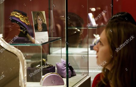 A Woman Looks Over Jewelry Owned by the Late Joan Rivers Pictured on Display During a Preview of an Auction of the Actress' Personal Items at Christie's in New York New York Usa 17 June 2016 the Auction Which Includes Furniture Clothing Art and Jewelry From Rivers' New York Apartment is Being Held Online Until 23 June 2016 with a Live Portion Taking Place on 22 June 2016 United States New York