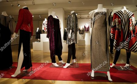 A View of Dresses Owned by the Late Joan Rivers on Display During a Preview of an Auction of the Actress' Personal Items at Christie's in New York New York Usa 17 June 2016 the Auction Which Includes Furniture Clothing Art and Jewelry From Rivers' New York Apartment is Being Held Online Until 23 June 2016 with a Live Portion Taking Place on 22 June 2016 United States New York