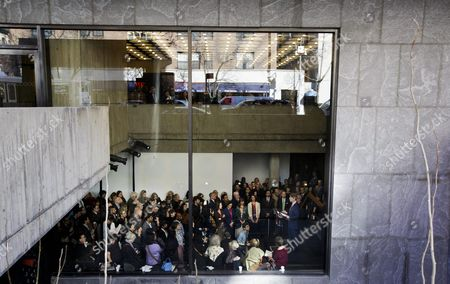 Thomas P Campbell (bottom Right) the Director and Ceo of the Metropolitan Museum of Art Speaks to a Gathered Crowd at the Press Preview of the Met Breuer Museum in New York New York Usa 01 March 2016 the New Met Breuer Which is in the Building That Used to Be Home of to the Whitney Museum of American Art Opens to the Public on 18 March 2016 United States New York