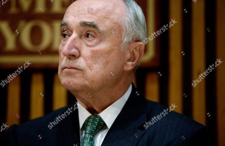 New York City Police Commissioner William J Bratton Listens During a Press Conference About Last Night's Shooting Death of New York City Police Officer Randolph Holder in New York New York Usa on 21 October 2015 Holder was Shot in the Harlem Neighborhood of New York on Tuesday Night and Suspect in the Case Tyrone Howard Has Been Arrested United States New York
