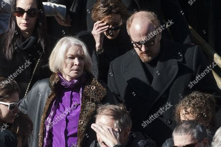 Us Actress Ellen Burstyn (l) and Us Comedian Louis C K Leaves the Funeral Mass of Us Actor Phillip Seymour Hoffman at St Ignatius Church in New York New York Usa 07 February 2014 Hoffman 46 Died 02 February From a Suspected Drug Overdose United States New York