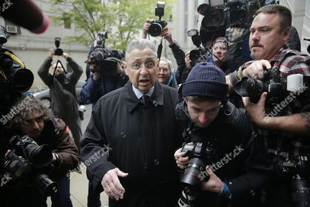 Sheldon Silver the Former Speaker of the New York State Assembly Arrives at Federal Court For His Sentencing in New York New York Usa 03 May 2015 Silver is Being Sentenced on Federal Corruption Charges United States New York