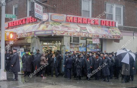 Editorial picture of Usa Nypd Officer Funeral - Oct 2015