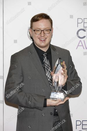 Us Personality Matt Bellassai Poses in the Press Room of the 2016 People's Choice Awards at the Microsoft Theater in Los Angeles California Usa 06 January 2016 United States Los Angeles