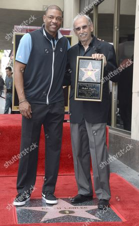 Us Radio Personality Ralph Lawler (r) Poses with Los Angeles Clippers Basketball Head Coach Doc Rivers (l) As Lawler is Honored with a Star on the Hollywood Walk of Fame in Hollywood California Usa 03 March 2016 Lawler Received the 2 575th Star United States Hollywood