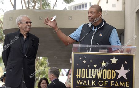 Los Angeles Clippers Basketball Head Coach Doc Rivers (r) Holds Up a Paper with His Speech As He Introduces Us Radio Personality Ralph Lawler (l) who was Honored with a Star on the Hollywood Walk of Fame in Hollywood California Usa 03 March 2016 Lawler Received the 2 575th Star United States Hollywood