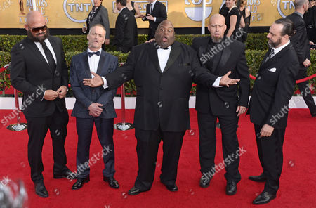 (l-r) Us Actors Tait Fletcher Michael Bowen Lavell Crawford Matthew T Metzler and Patrick Sane Arrive For the 20th Annual Screen Actors Guild Awards at the Shrine Auditorium in Los Angeles California Usa 18 January 2014 United States Los Angeles