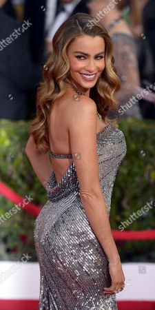 Stock Picture of Colombian Actress Sophia Vergara Arrives For the 20th Annual Screen Actors Guild Awards at the Shrine Auditorium in Los Angeles California Usa 18 January 2014 United States Los Angeles