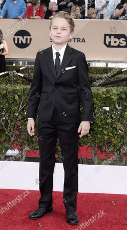 Actor Mason Vale Cotton Arrives For the 22nd Annual Screen Actors Guild Awards Ceremony at the Shrine Auditorium in Los Angeles California Usa 30 January 2016 United States Los Angeles
