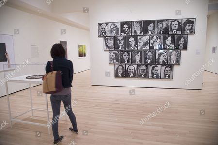 A Series of Screen Prints by Dennis Adams 'Patricia Hearst' at the Newly Expanded San Francisco Museum of Modern Art (sfmoma) in San Francisco California Usa 17 May 2016 the Museum Opened to the Public on 14 May 2016 After Being Closed For Three Years During Renovation United States San Francisco