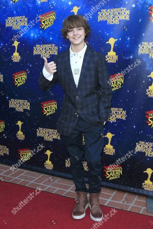 Us Actor Max Charles Poses For Photos at the 42nd Annual Saturn Awards Held at the Castaway in Burbank California Usa 22 June 2016 the Saturn Awards Honors the Best in Science Fiction Fantasy Horror and Other Genres in Film Television Home Media Releases and Theatre United States Burbank
