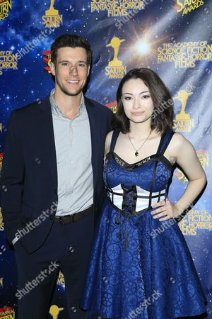 Stock Photo of Us Actors Drew Roy (l) and Jodelle Ferland Pose For Photos at the 42nd Annual Saturn Awards Held at the Castaway in Burbank California Usa 22 June 2016 the Saturn Awards Honors the Best in Science Fiction Fantasy Horror and Other Genres in Film Television Home Media Releases and Theatre United States Burbank
