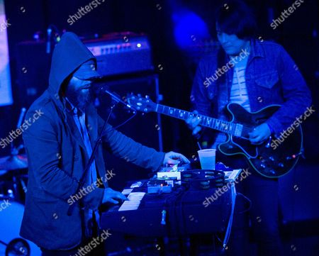 Vocalist Alex Maas (l) of the Black Angels Performs at the Mohawk During the Music Portion of South by Southwest in Austin Texas Usa 12 March 2014 South by Southwest (sxsw) Conferences and Festivals Offer the Unique Convergence of Original Music Independent Films and Emerging Technologies United States Austin