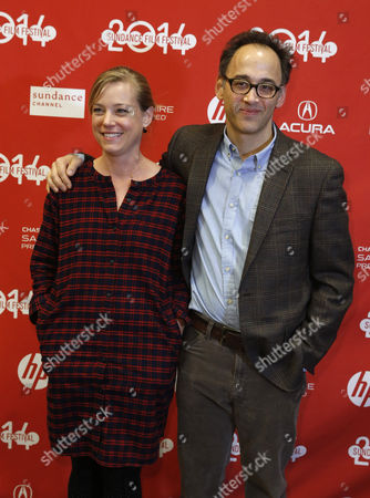 Us Director David Wain (r) and His Wife Us Actress Zandy Hartig (l) Arrive For the Premiere of 'They Came Together' During the 2014 Sundance Film Festival in Park City Utah Usa 24 January 2014 the Festival Runs From 16 to 26 January United States Park City