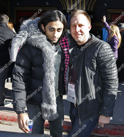 Us Producer and Actor Adi Shankar (l) and Us Producer Adam Stone (r) Arrives For the Premiere of the German Film 'The Voices' Outside the Egyptian Theater During the 2014 Sundance Film Festival in Park City Utah Usa 19 January 2014 the Festival Runs From 16 to 26 January United States Park City